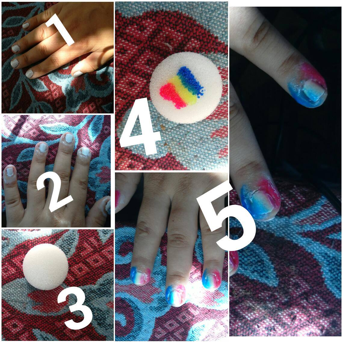 Nail Art Sponge Stamper Polish DIY Templates Transfer newchic