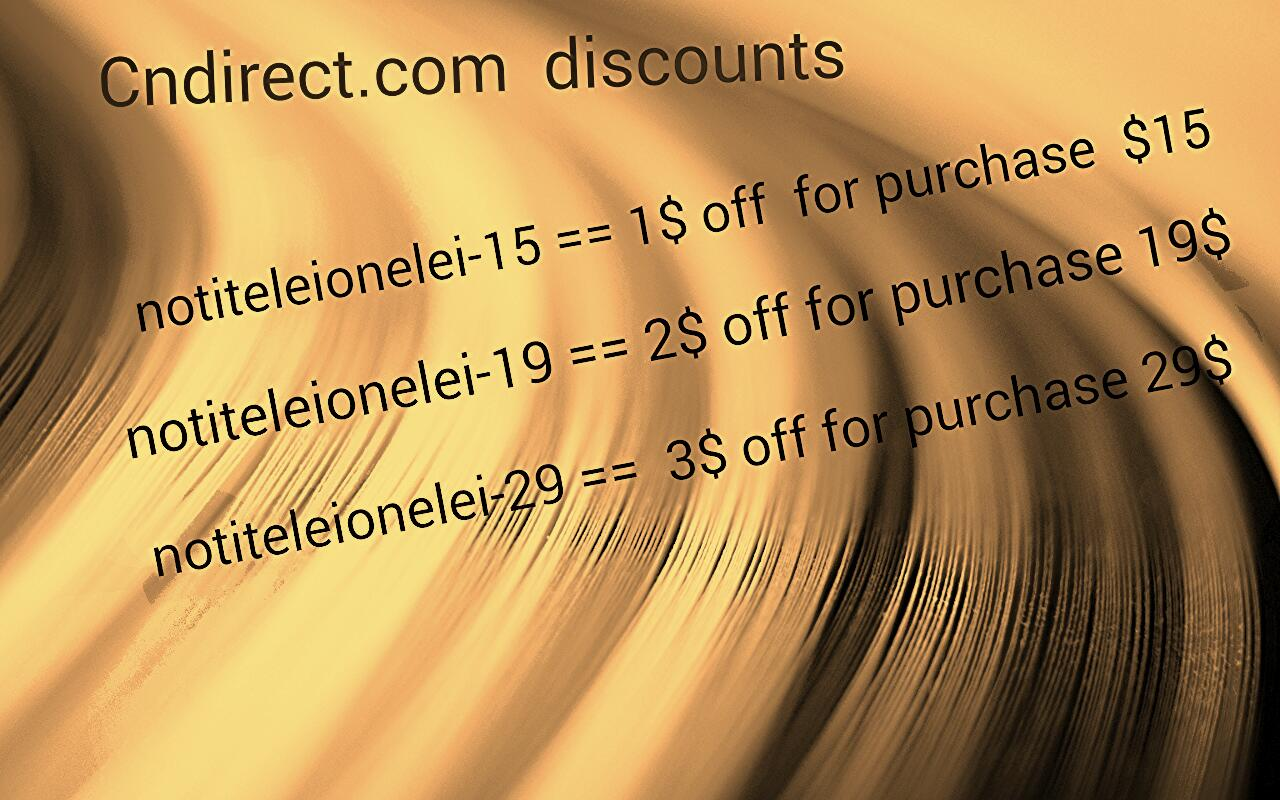 notiteleionelei-15 == $1 off for purchase $15  notiteleionelei-19 ==$2 off for purchase $19  notiteleionelei-29 == $3 off for purchase $29