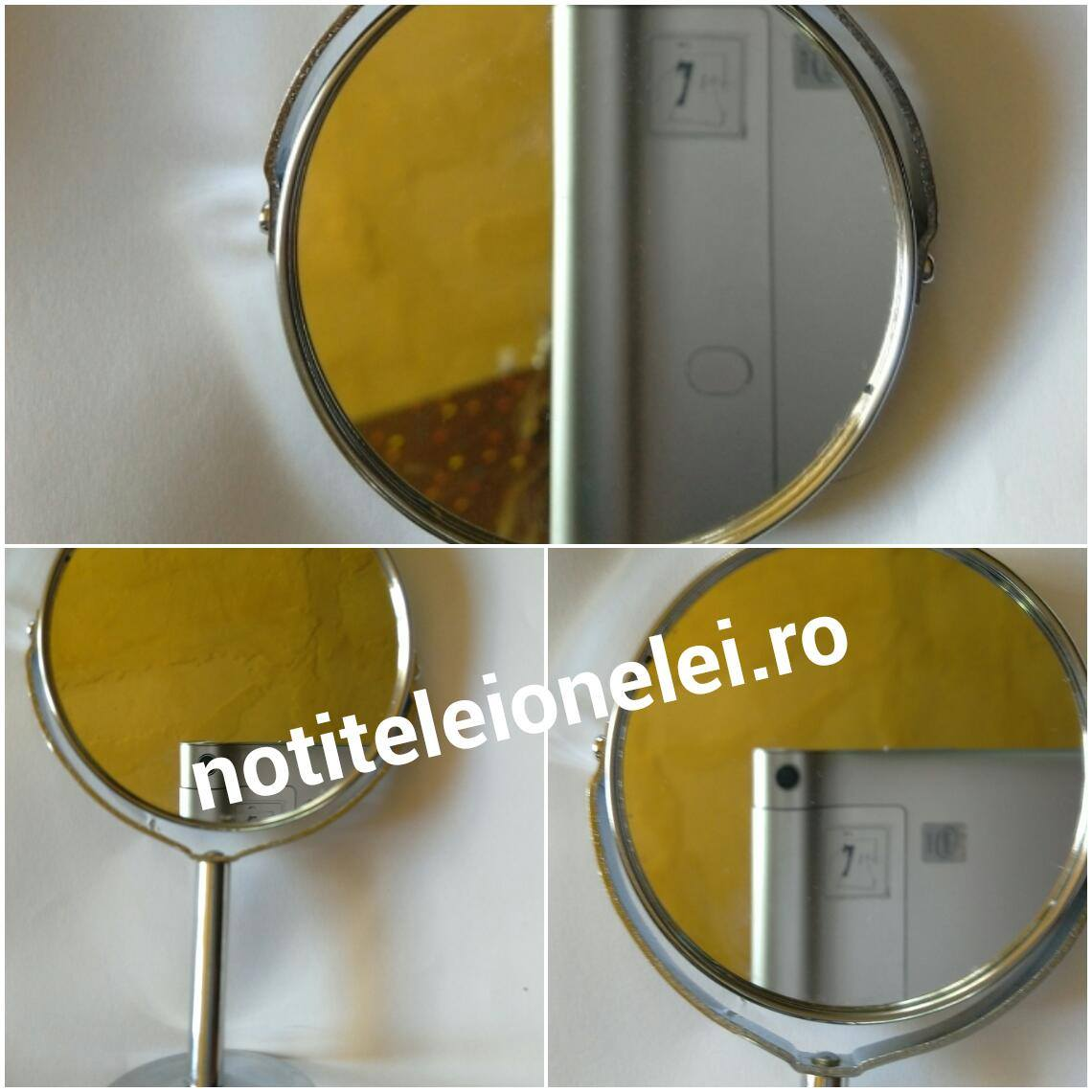 Magnifying Rotatable Double-Sided Desktop Cosmetic Vanity Mirror newchic