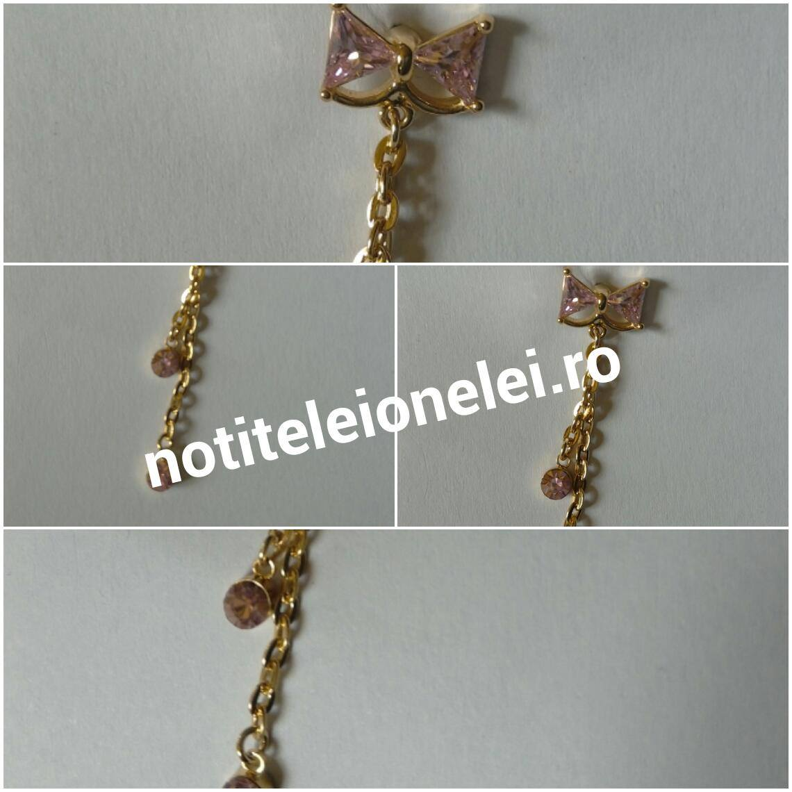 Bowknot Crystal Bow Belly Ring Body Piercing Color:Pink newchic