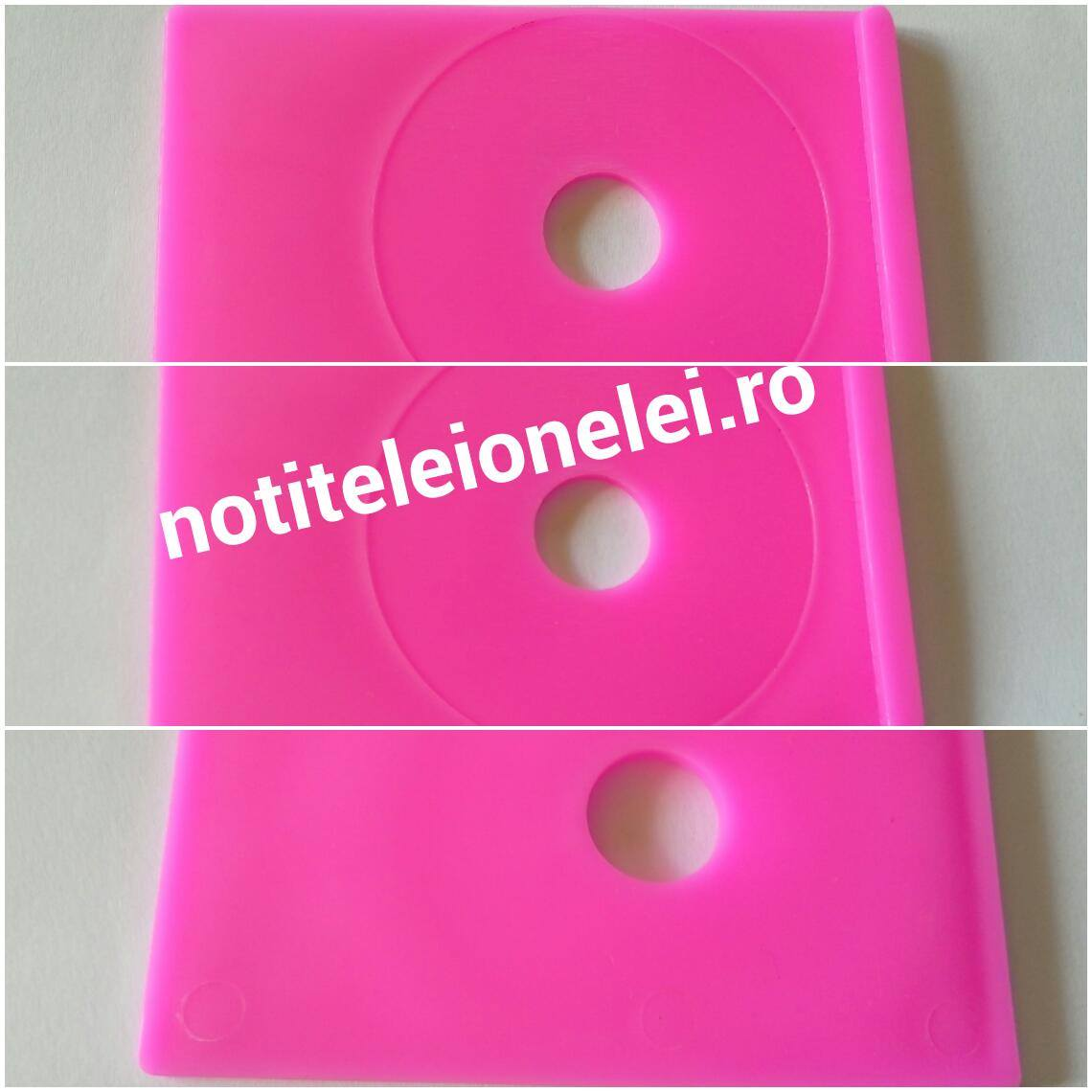 DANCINGNAIL Pink Plastic Nail Stamping Image Template Printing Plate Holder Stand Tray newchic