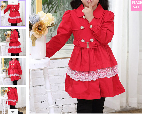 Double-Breasted Bowknot Bace Decorated Coat